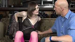 Slender Tranny Birdmountain Anal Pounded With Bald Dude