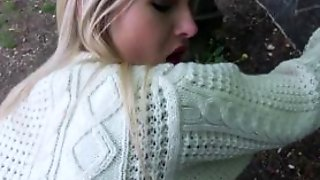 Gorgeous Blonde Aisha Considers Fucking Outdoors For Mo