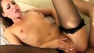 Blonde In An Interracial Threesome