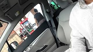 Dick Flash At Gas Station