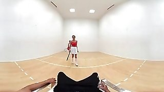 Vr Bangers-[360 Vr] Dillion And Pristine Scissoring After Naked Racquetbal