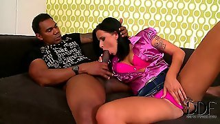Theres One Thing Laura Lee Wants From This Guy, And Its His Fat Black Boner! He Gives The Slut What She Needs, Feeding Her Black Meat Until Hes Ready To Feed Her Cum Too!