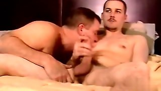 Gay Orgy Servicing A Big Straight Dick