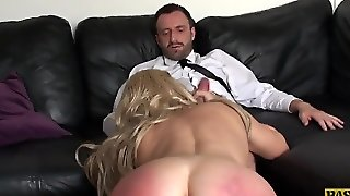 Milf Gives Blowjob While Handsome Man Is Spanking Her