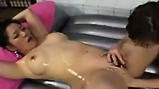 Oiled Up Asian Japanese