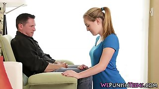 Naughty Teen Gets Spanked