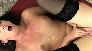 Brunette, Solo, Fetish, Small Tits, Squirting
