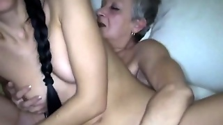 Old Lesbian Pleasing The Teen
