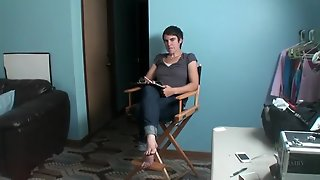 Chick In Jeans Interviews Before Her Porn Scene