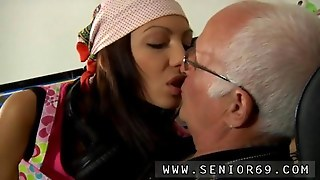 Silvie Loves To Arouse The Old Mans Dick