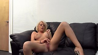 Bleach Blonde Hottie With Great Tits Does Her First Porn