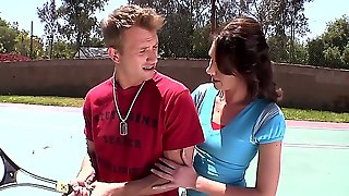 Katie Angel Is A Professional Pornstar And A Good Tennis Player. However, Her Friend Doesnt Believe, That She Can Make Him Satisfied. Lucky For His, Katie Is In Good Mood