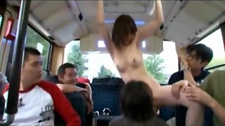 Japan Teen Nude In A Bus!