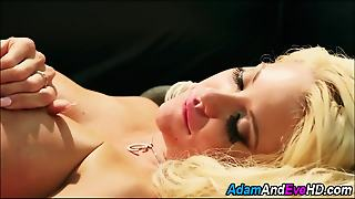 Busty Blonde Rides Dick
