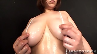 Hot Sex With The Busty And Oiled Up Marie Momoka