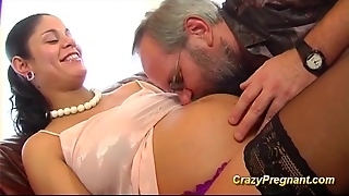 Grandpas Fun With Preggo Teen