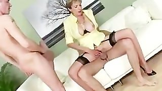 Big Tits Lady Sonia Gets Double Cumshot