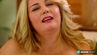 Fat Blonde In Solo Action