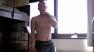 Solo Male Strip Tease On Webcam