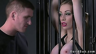 Big Tits Blonde Sub In Stockings Fucked And Cummed