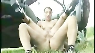 Nice German Anal-Outdoor-Car-Orgy