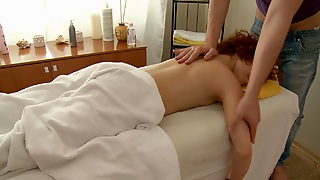 Massage Hard Core Fuck With Redhead