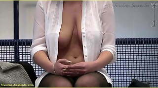Public Exposed - Downblouse - Tits Out