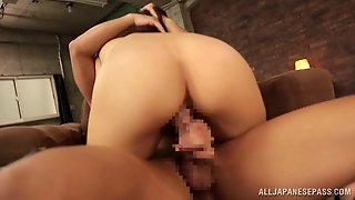Hot Asian Girl With  Thong And High Heels Being Fucked Doggy-Style