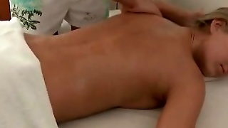 Golden Haired Girl Is Seduced By A Massage