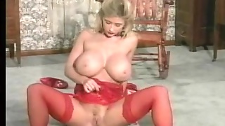 Big Tits In Red Lingerie