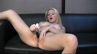 Sexy Babe Playing With Pussy & Giving A Hand Job