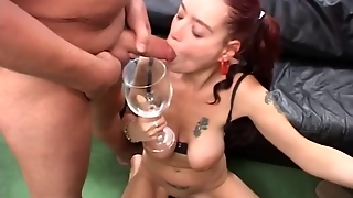 Cute Flexible Teen In Wild Gangbang