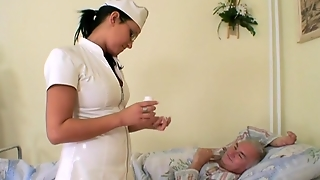 Grandpa Needs Help From Sexy Nurse