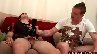 Sex Toy Excites Him For A Hot Gay Blowjob