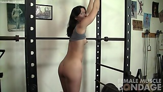 Muscle, Gym, Female, Muscle Gym, Bodybuilder Bondage, Bondage Gym, Female Bondage, Musclefemale