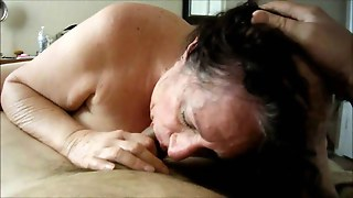 Brunette Grandma Knows How To Suck A Cock