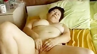 The Exhibition Of An Old Mature Slut