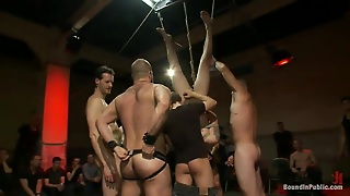 Pretty Boy Blindfolded And Gang Banged