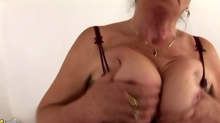 Old Hairy Granny Solo Masturbation