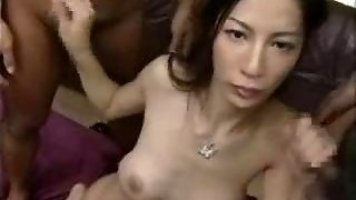 Beauty Wet Hairy Asian Milf Gang Bang