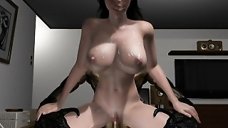 Huge Tit Anime Girl Sucks And Gets Banged By A Huge Monster's Cock