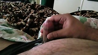 Small Uncut Cock Cumming