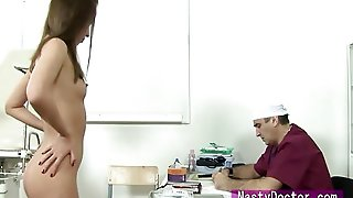 Tiny Russian Heddie Fucks At Gyno Exam Getting Her Tiny Teenage Body Ravaged From The Doctor