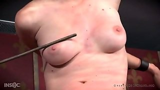 Gagged Girl Caned Hard As She Rides A Sybian