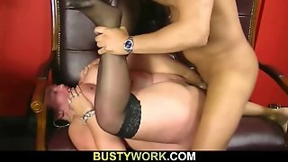 Busty Barmaid Sucks And Fucks At Work