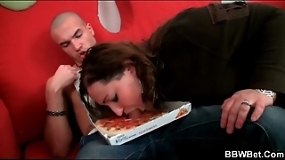 Bbw Pizza Delivery Girl Sucks His Cock