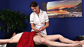 Cfnm Masseuse Sucks Cock