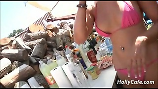 German Camping Party Amateur