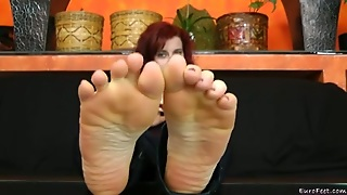 Lady, College, Foot Fetish, Solo Girl, Fetish, Redhead