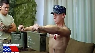 Gorgeous Stud Licking A Military Studs Big Cock